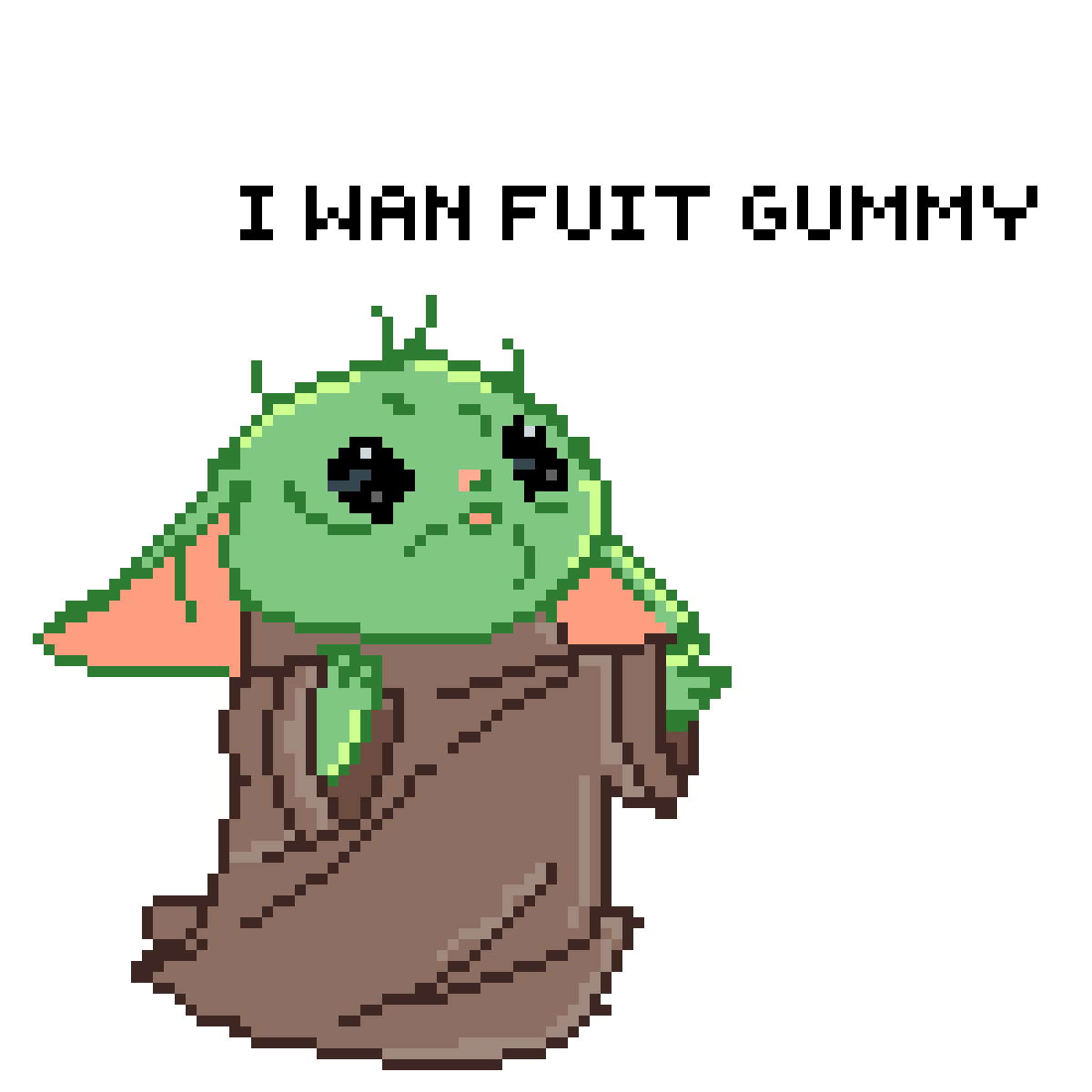 Fuit Gummy Yoda – Baby yoda uses the force to get a fruit gummy.
