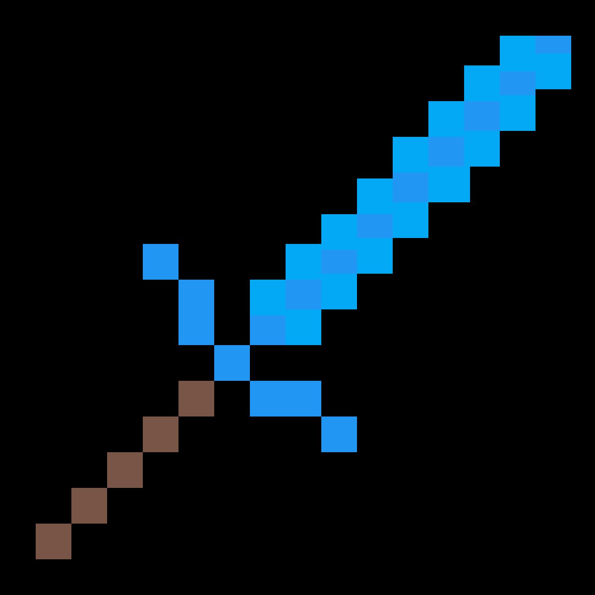как рисовать меч из майнкрафта #9