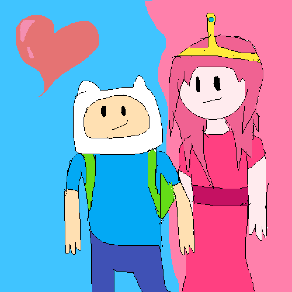 Fin + princess bubblegum by lillycatlady