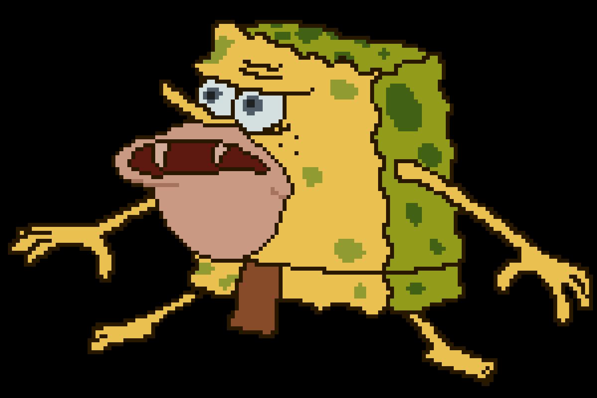 Pixilart Caveman Spongebob Primitive Spongebob Spongegar By Supermariogirl