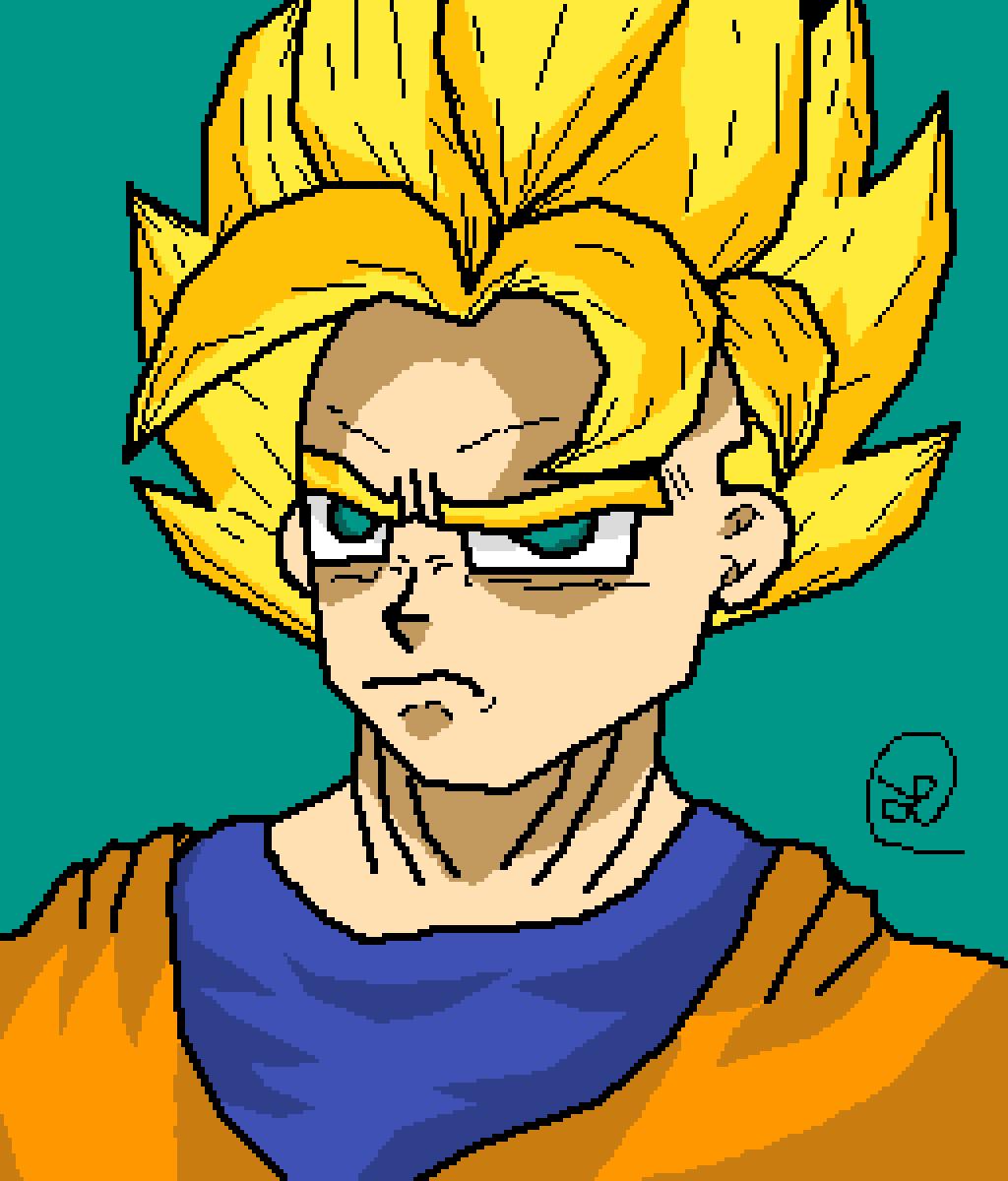 Super Saiyan Goku [1st form] by LinusSmellz