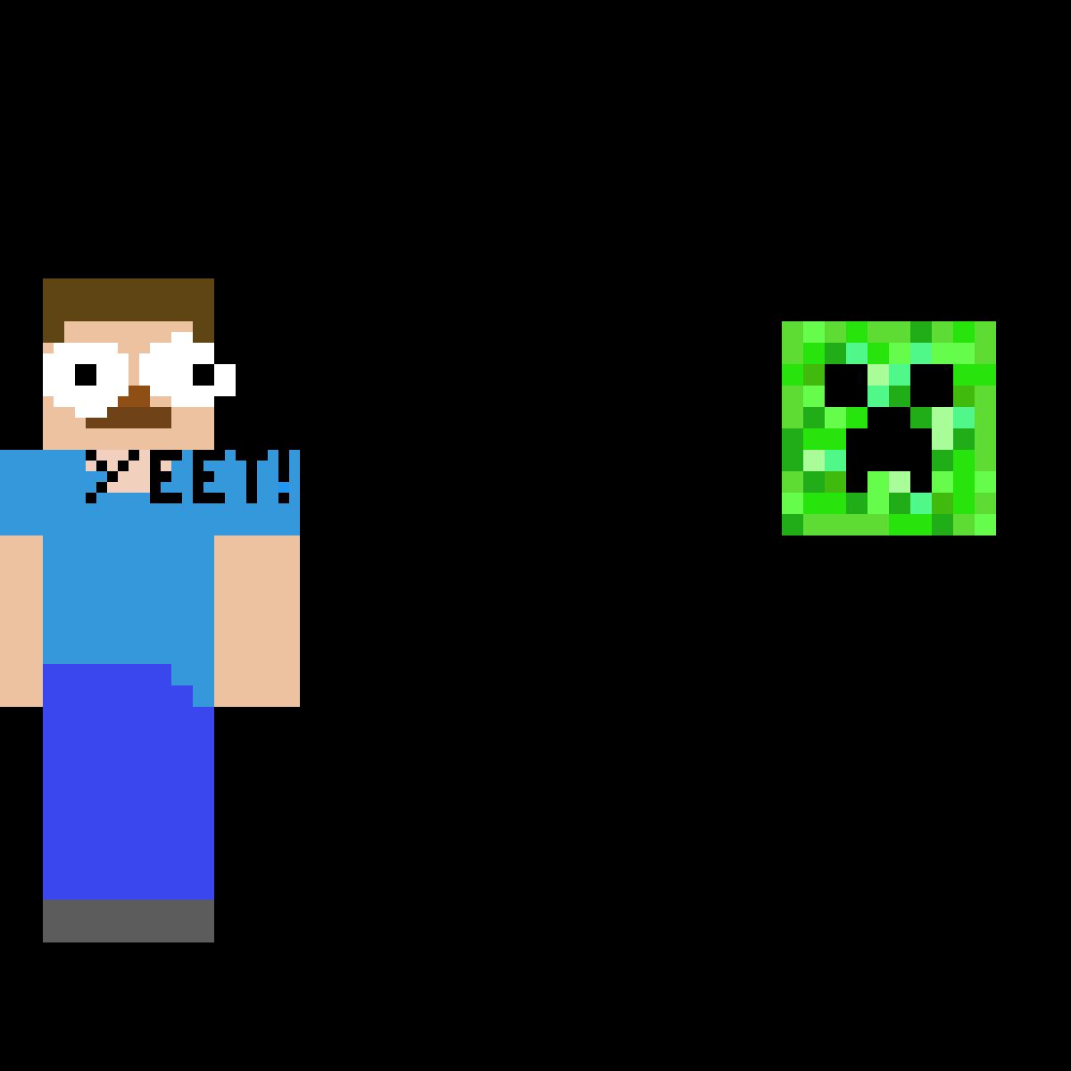 Pixilart Minecraft Vs Yeet 2 By Yotta Yeet101
