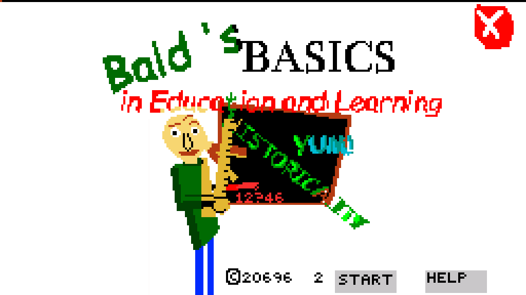 If baldi was an Nes bootleg game.