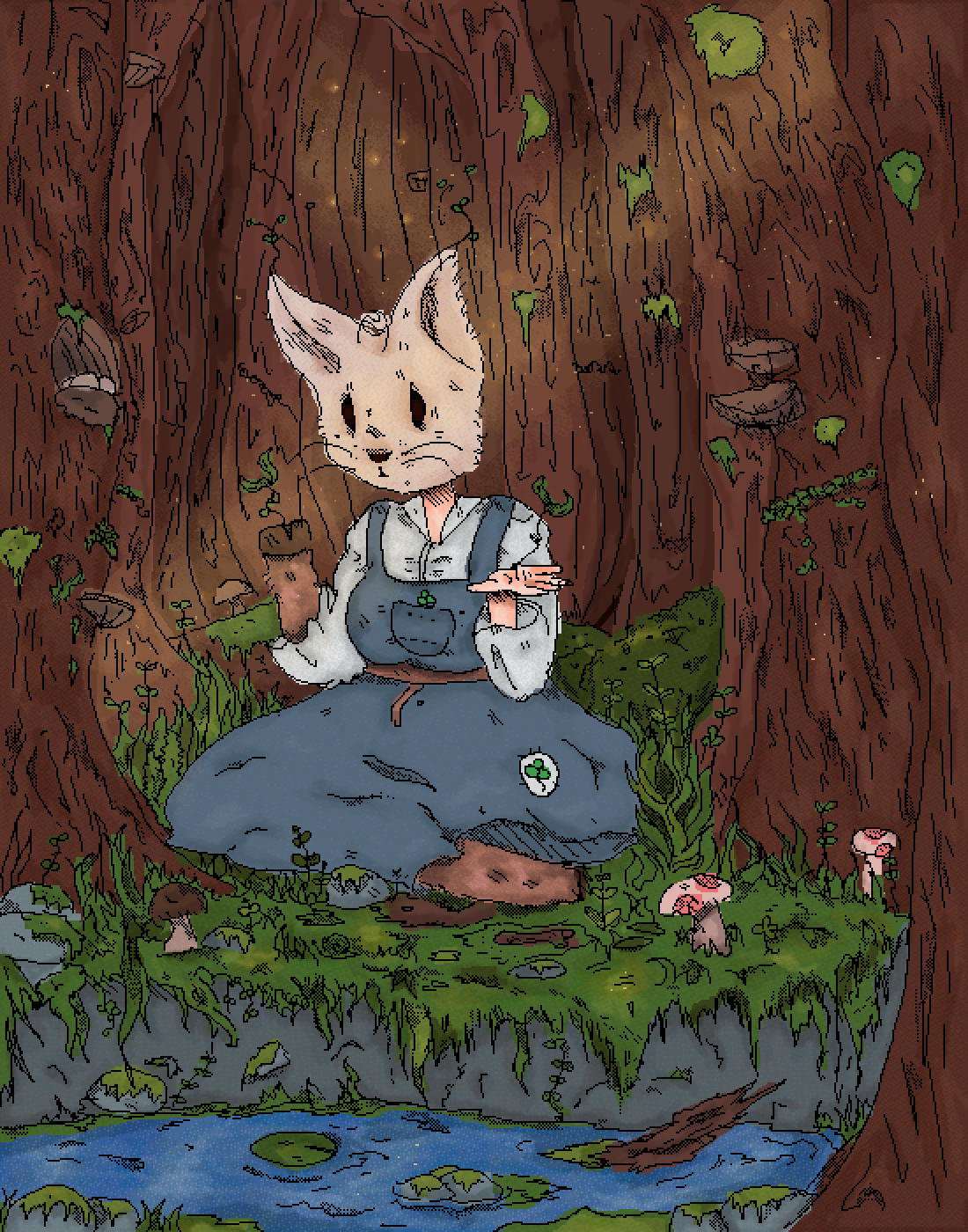 rabbit girl woods by 0ranges