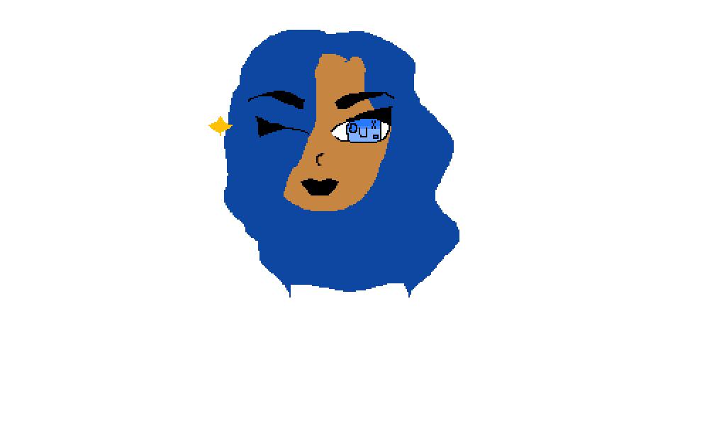 blue girl by mcCown