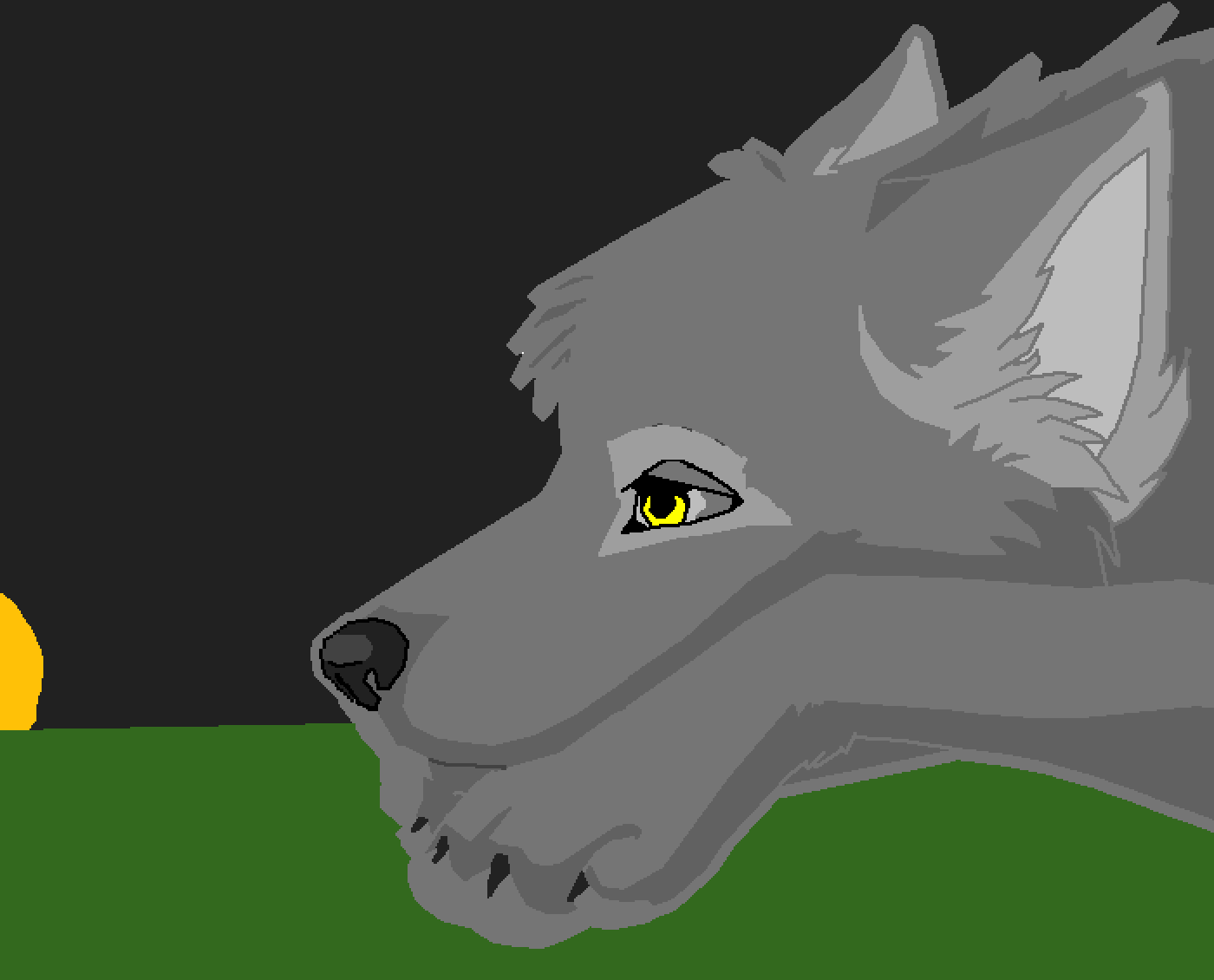 wolf in a cave by scar