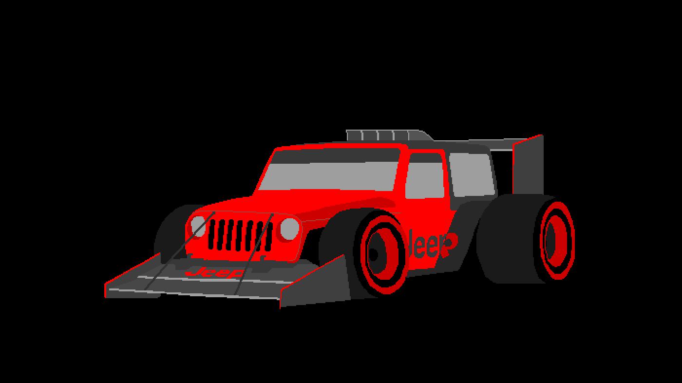 F1 jeep Red by Daniel2003