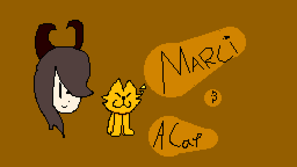 Marci & a cat. by Fluffo