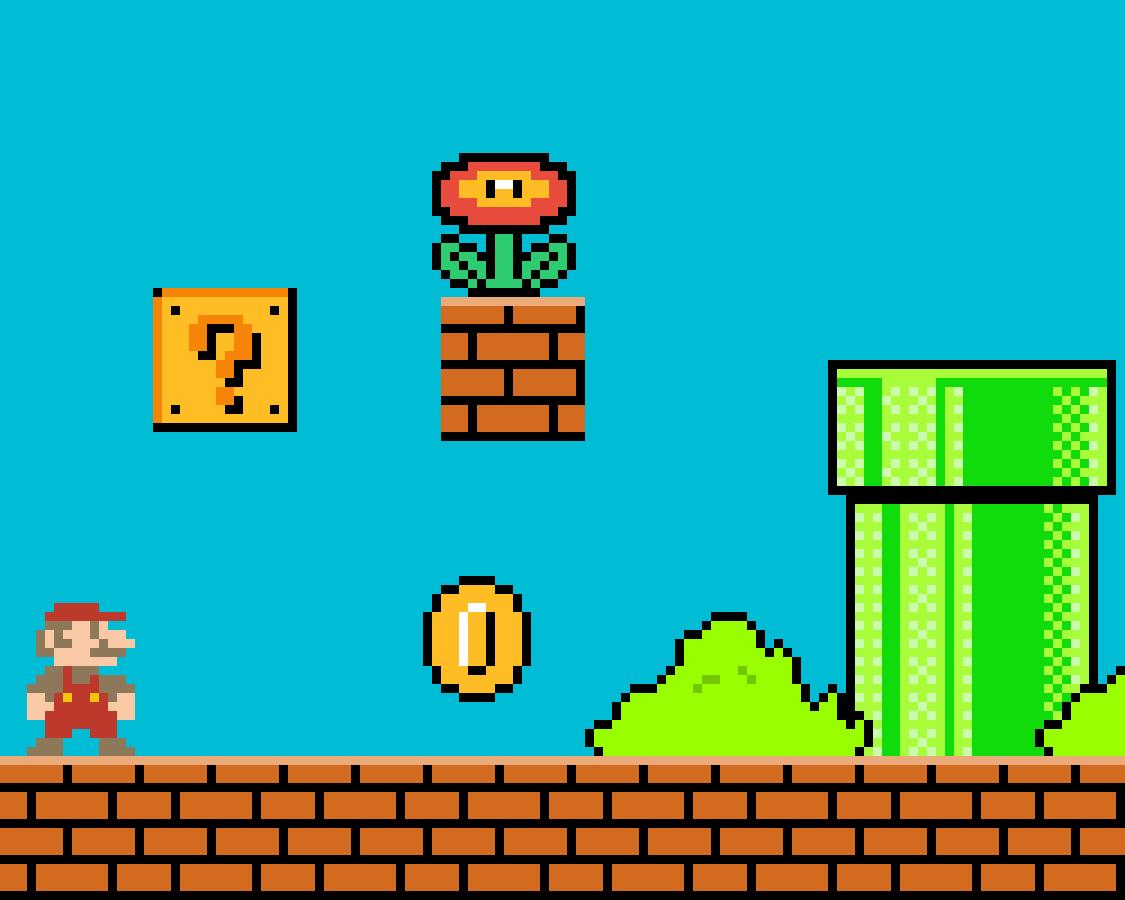 Stamped Mario lvl by Freddybonnie
