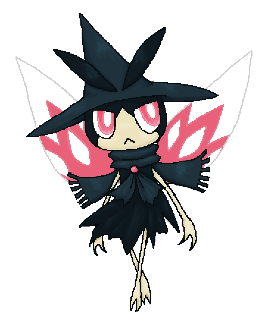 Pokemon fusion (Murkrow and Ribombee) by UndeadAnimation