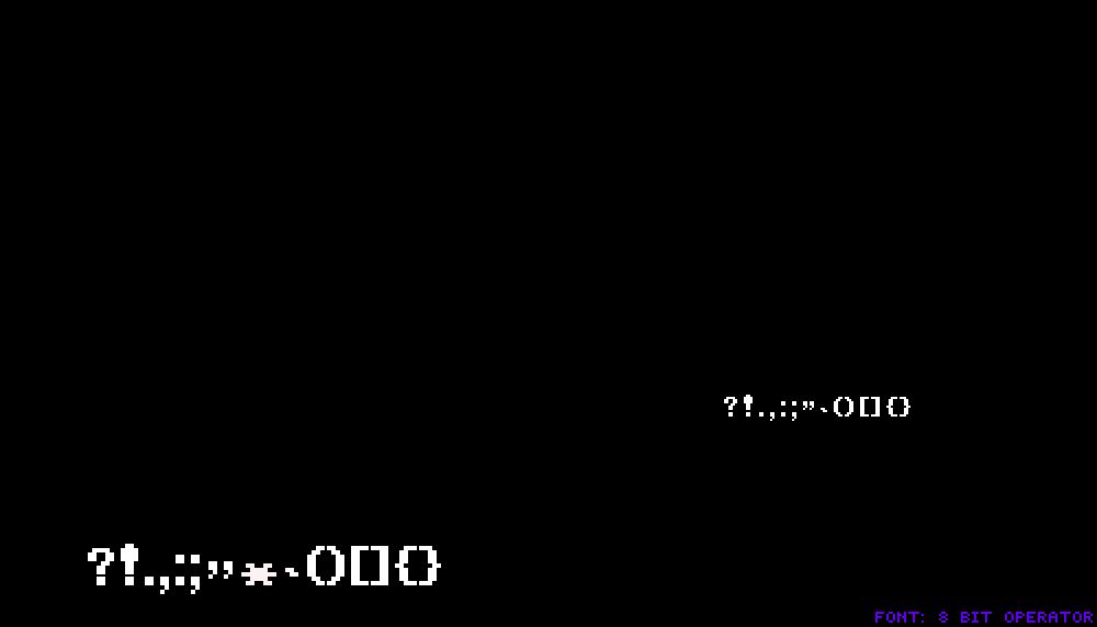 Pixilart - UT 8 Bit Operator Font Generator  (V3) by leobars17