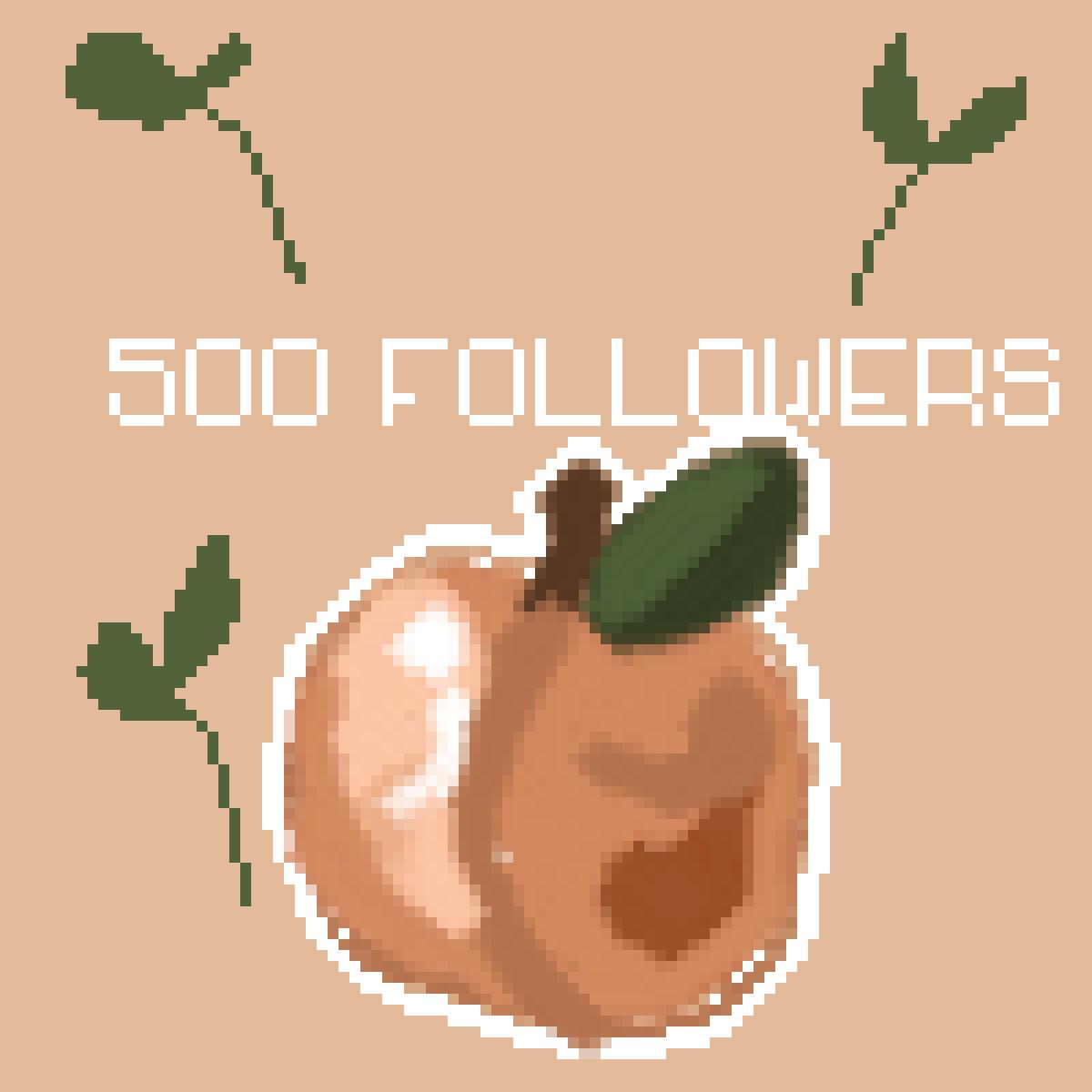 500 FOLLOWERS!!!! OMG by ArtbyChaiitea