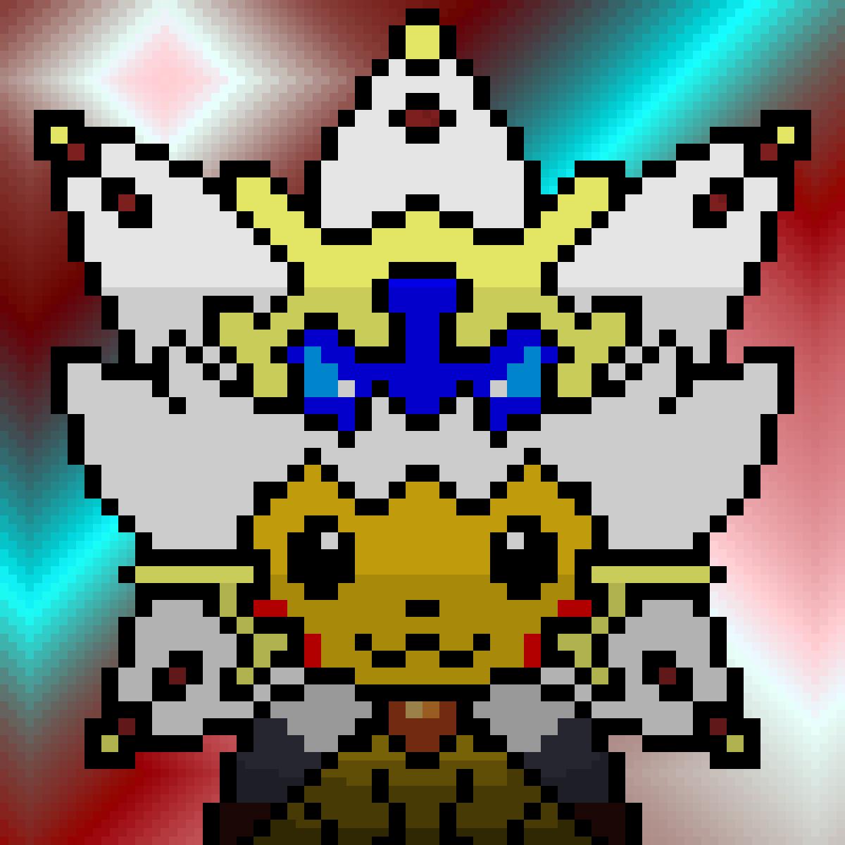Pixel Art Pikachu Costume Solgaleo