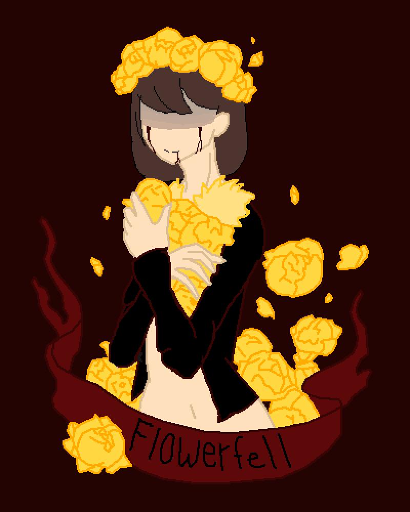 Flowerfell Frisk  by Anxie-tea