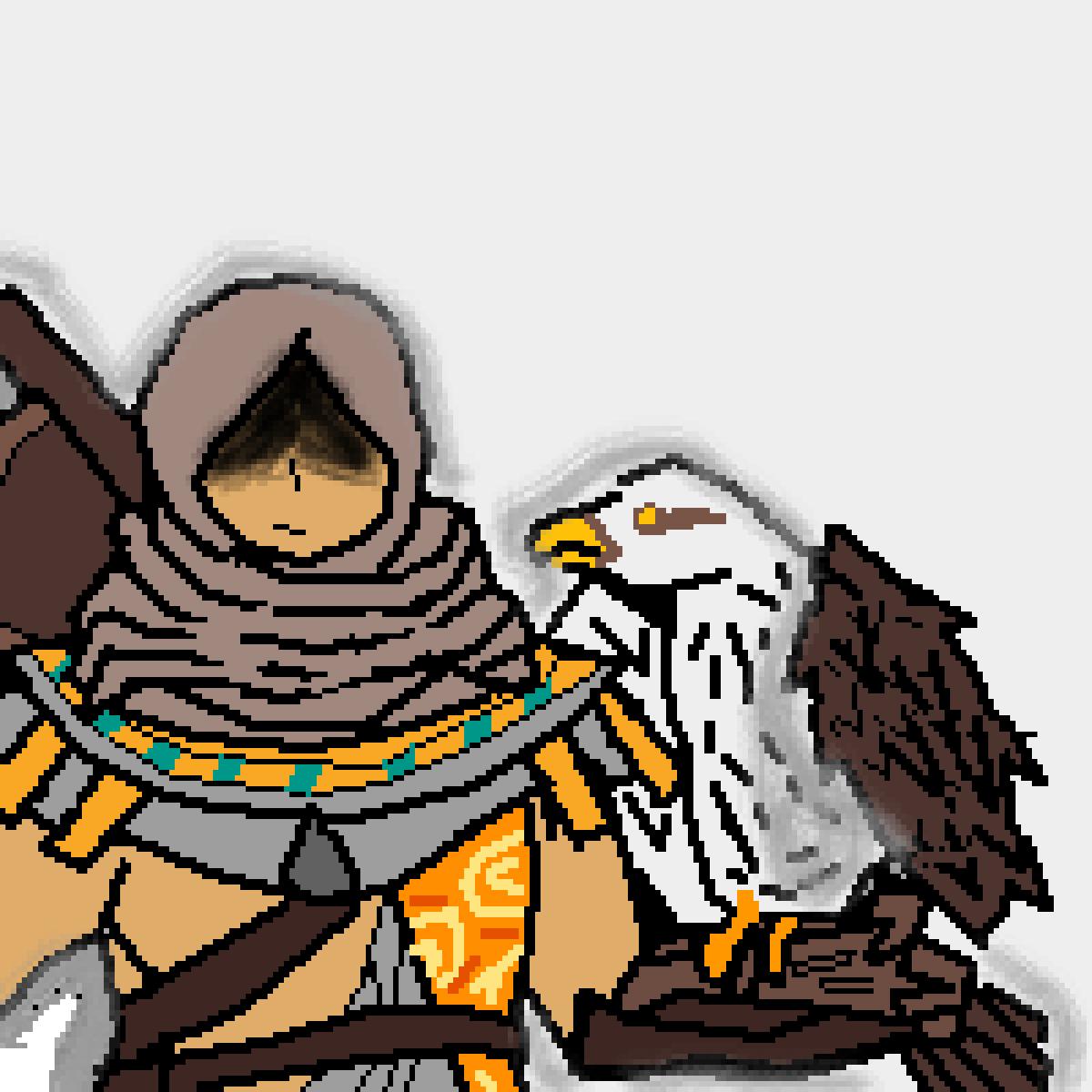 Pixilart Bayek Siwa And Senu From Assassin S Creed By Tangy Doggo