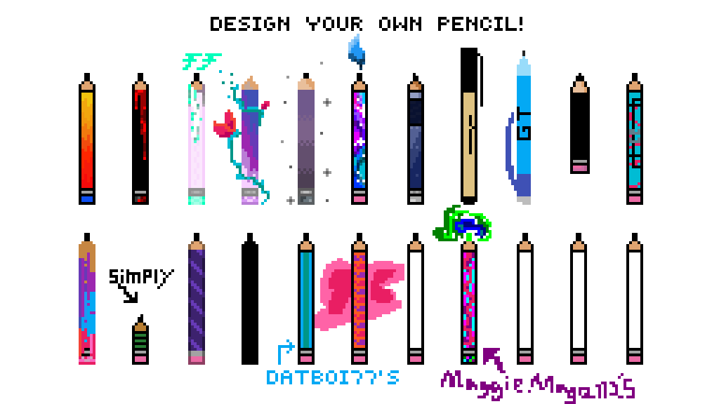 pixilart create your own pencil by lifeisuseless