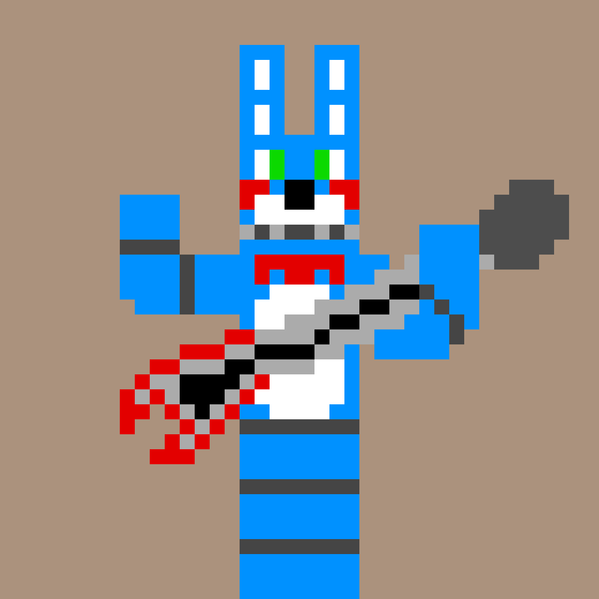 Pixilart Minecraft Toy Bonnie In The Pose Fnaf World By