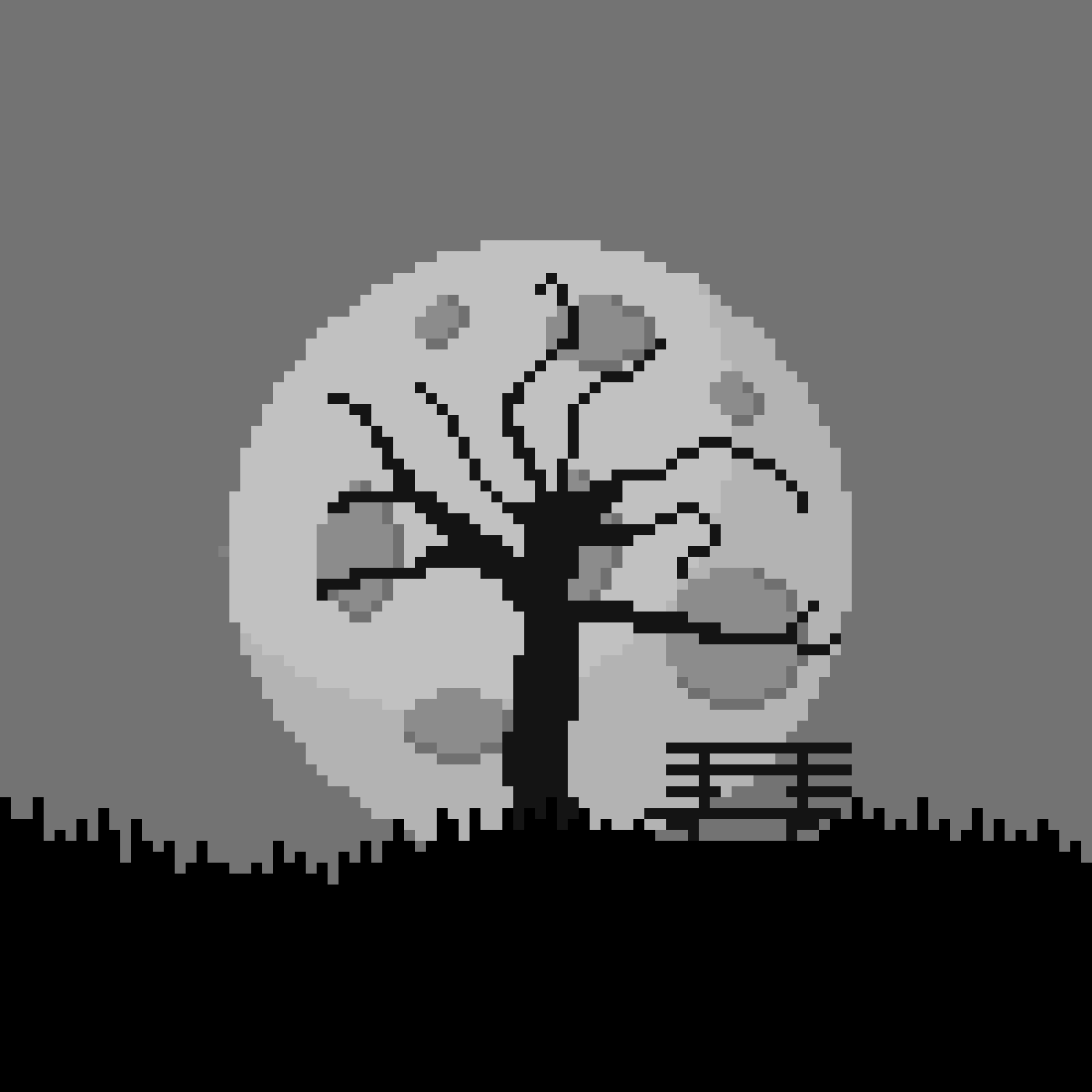 A moon scenery by Fraccium