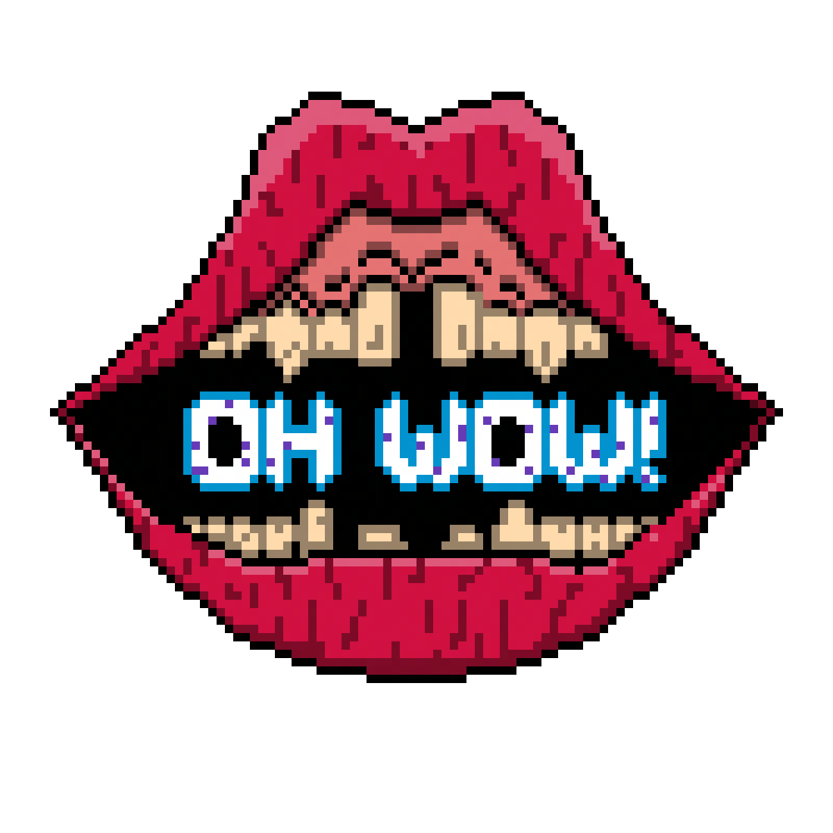 Oh Wow, lips by SyringeSoup