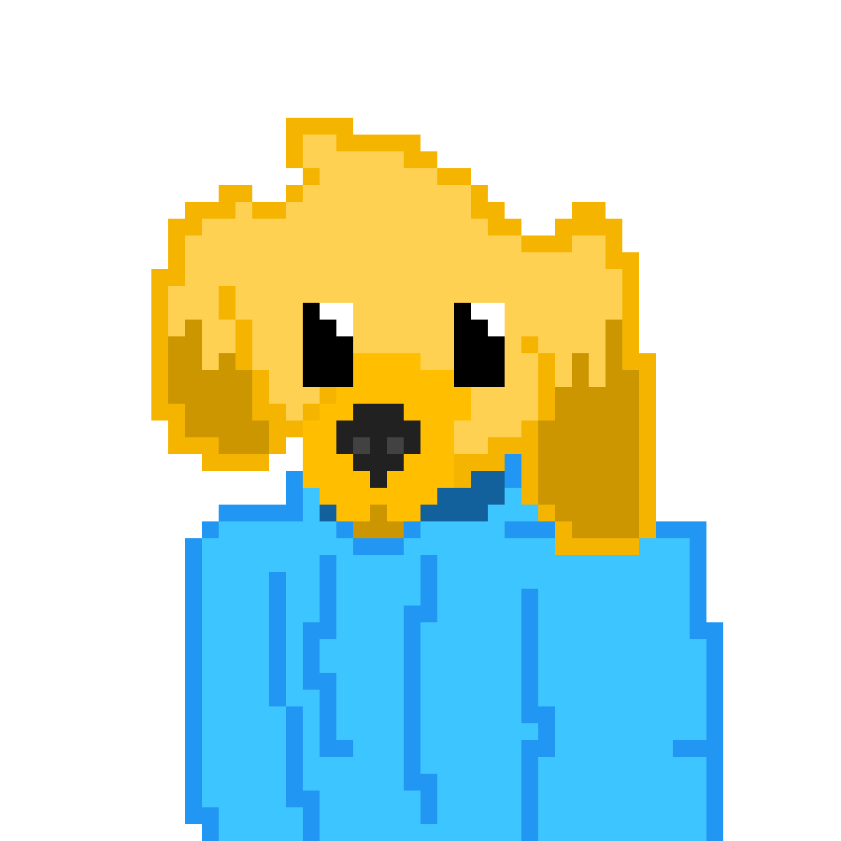 Golden Retriever in a Jacket