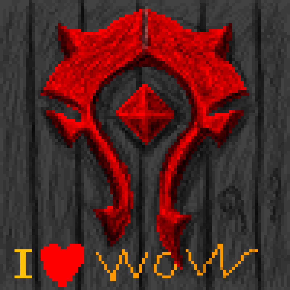 Wow logo horde by Xx1TURBO1xX
