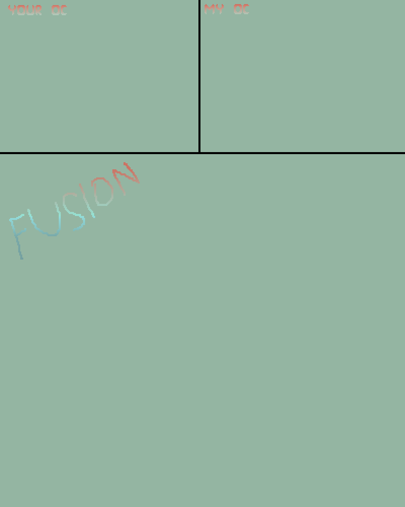 OC Fusion Template by MegaloMyDude