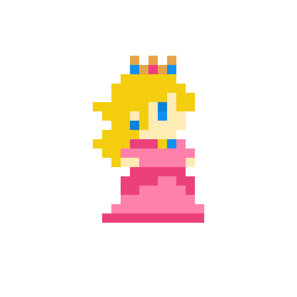 Princess Peach (super Mario Maker) By Rose