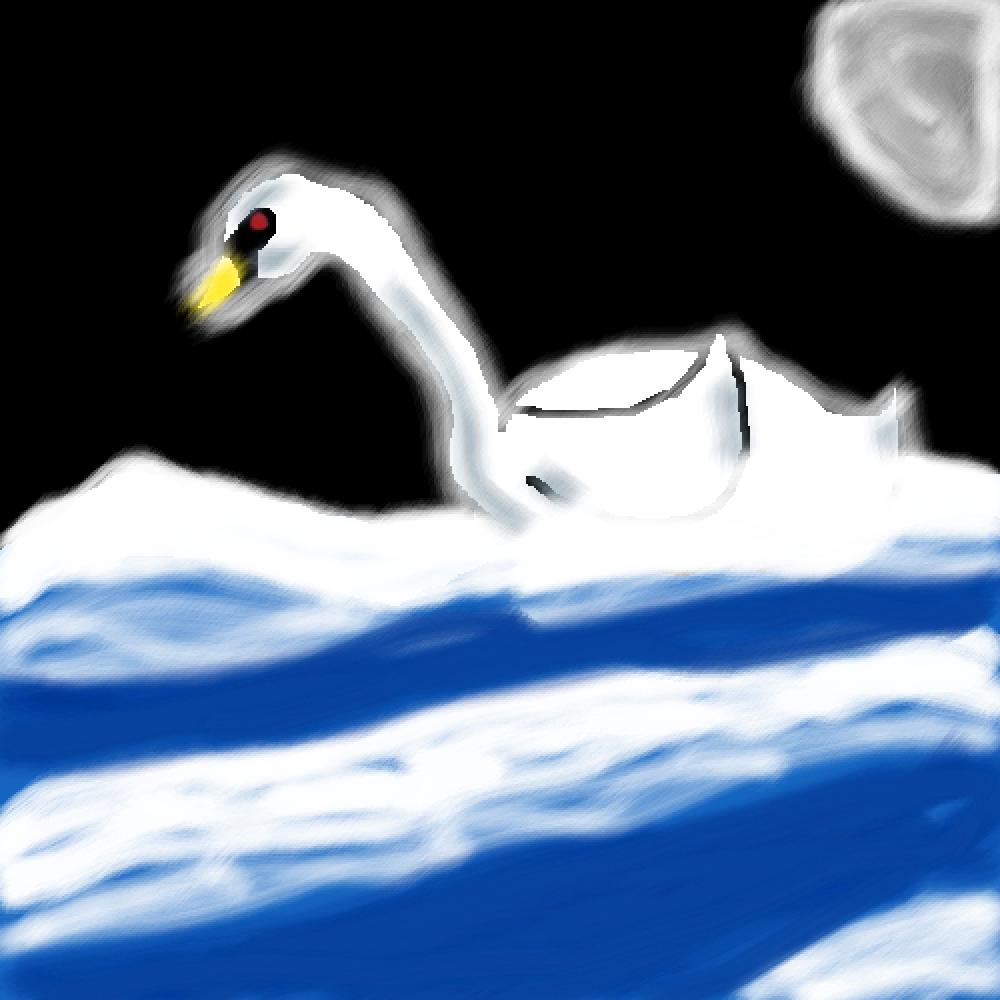 swan by mybaddrawings