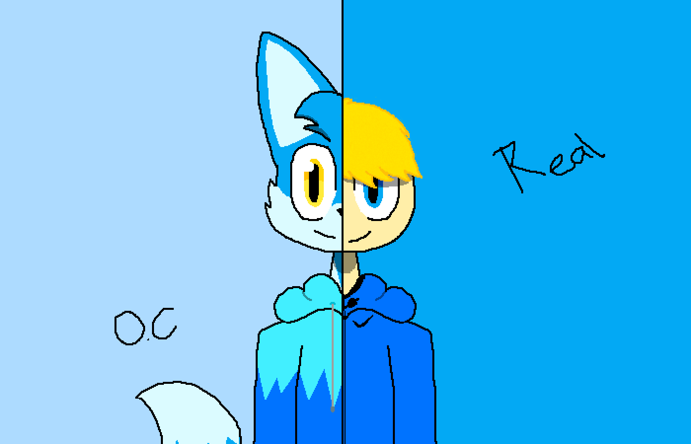 OC and Real (remake) by AlexAPhox