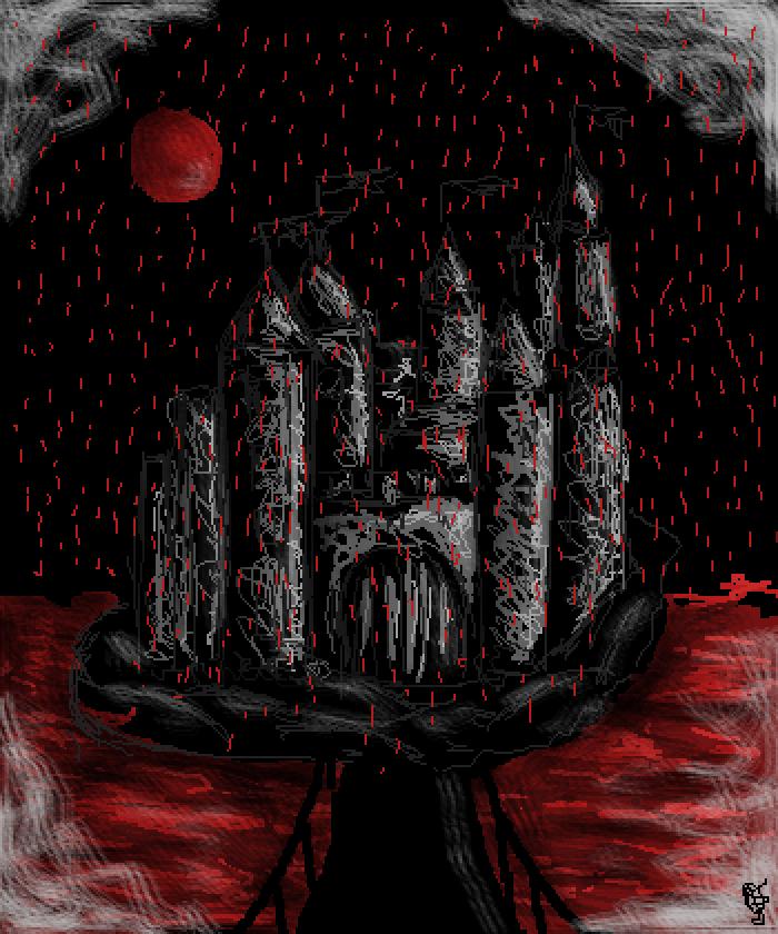 red rain  by Julez