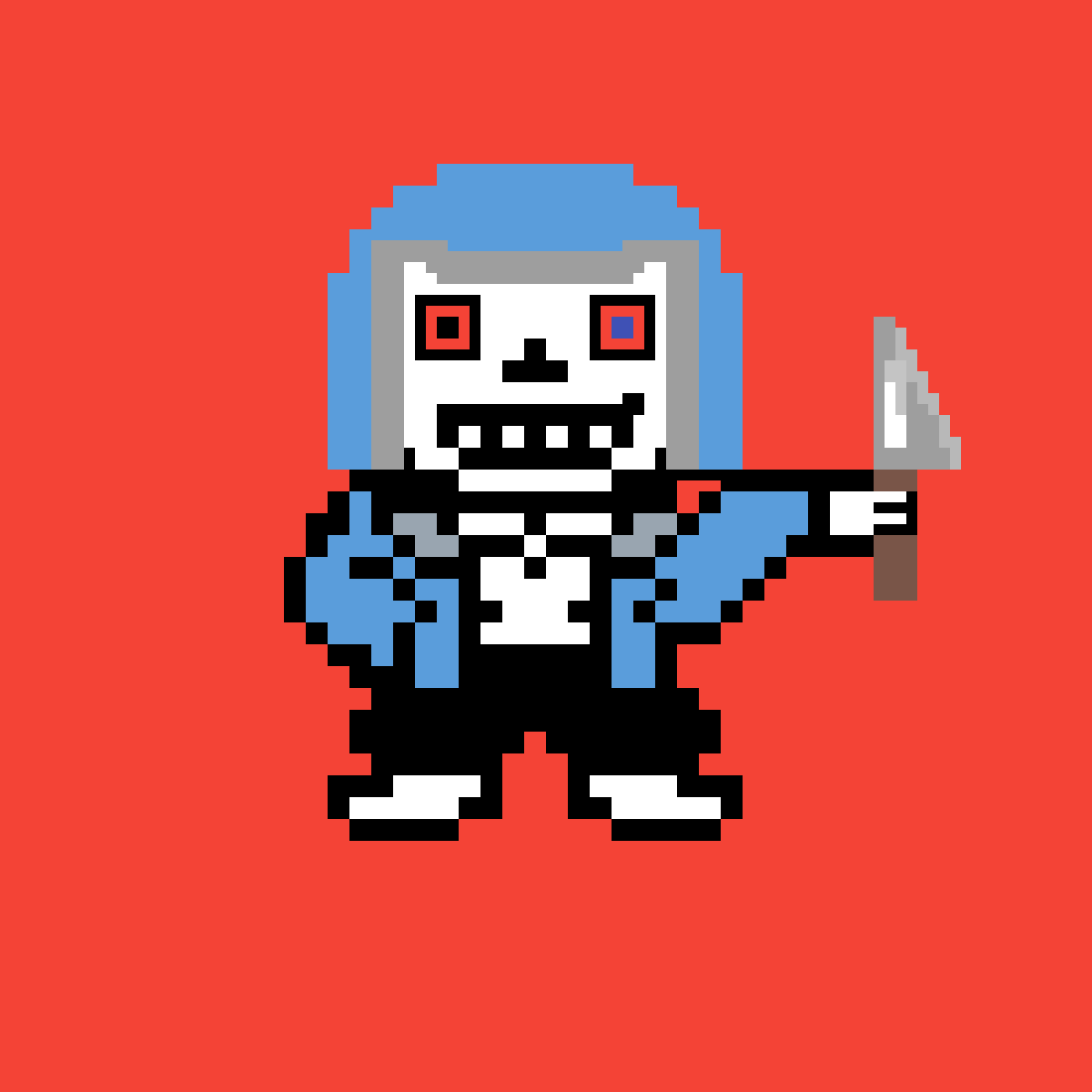 DustTale Sans with knife by eatmydirtypixel