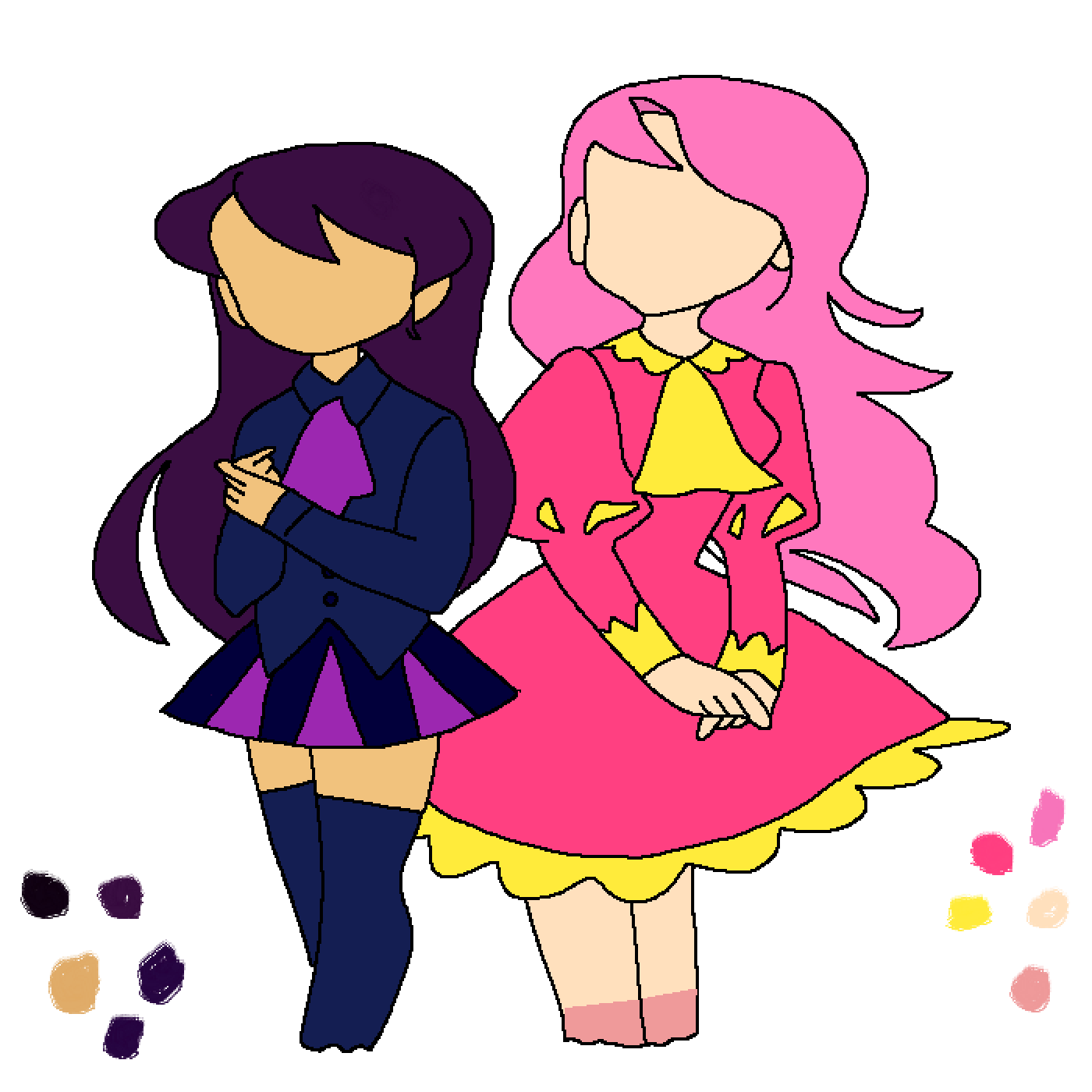 Lucy (left)& Ava (right) by catwomanzelda10