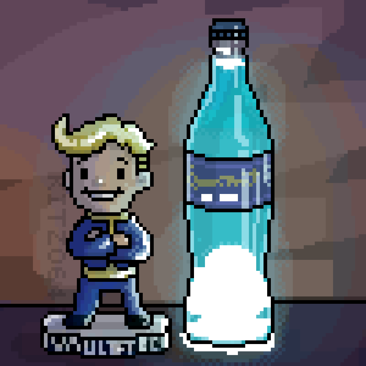 Quantum Cola and a Bobblehead  by Kitzo642
