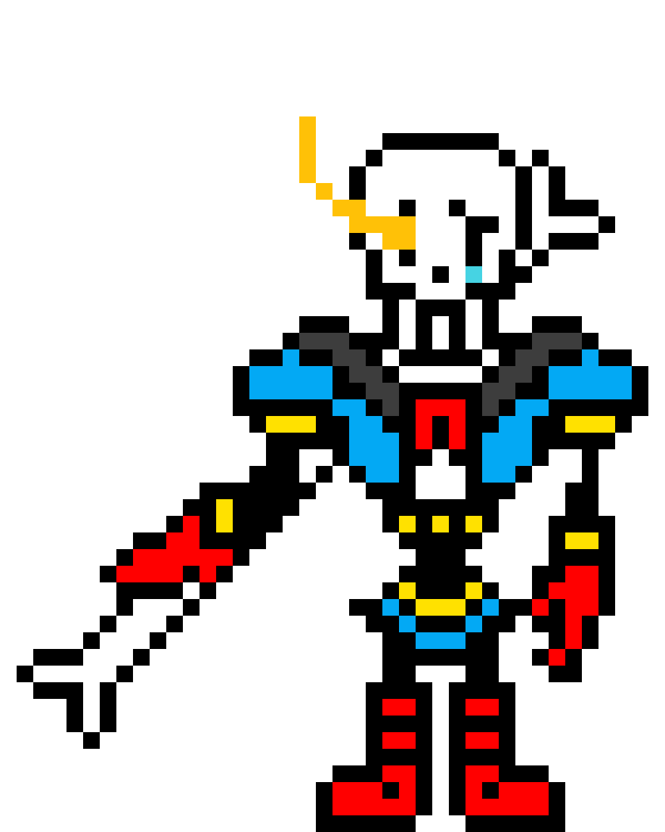 Pixilart - Disbelief Papyrus (Phase 1) by DemonDJ7
