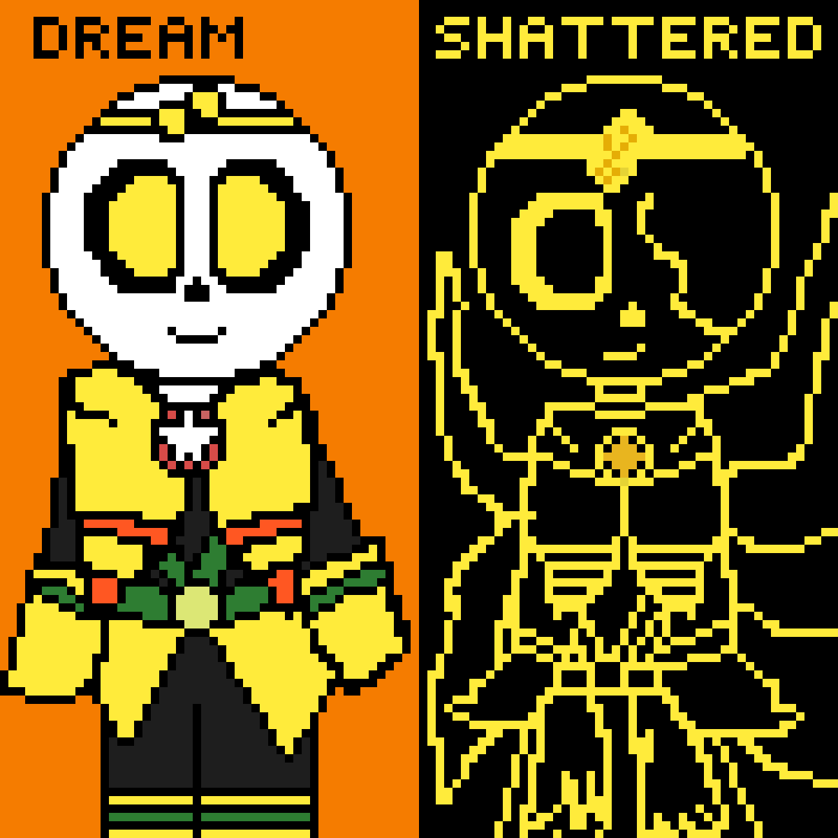 Dream & Shattered by banishedtale