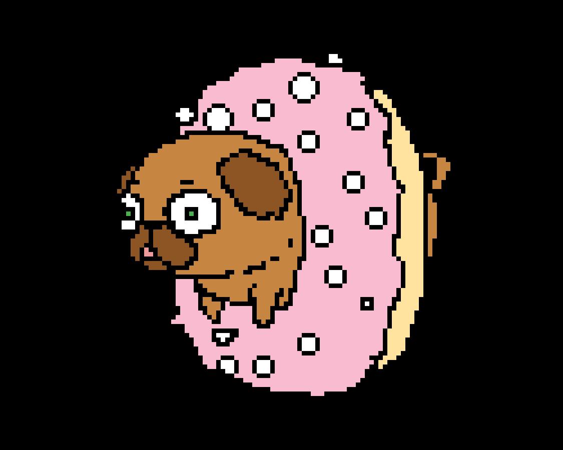 main-image-dogo in a doughnut   by Creepypastagirl