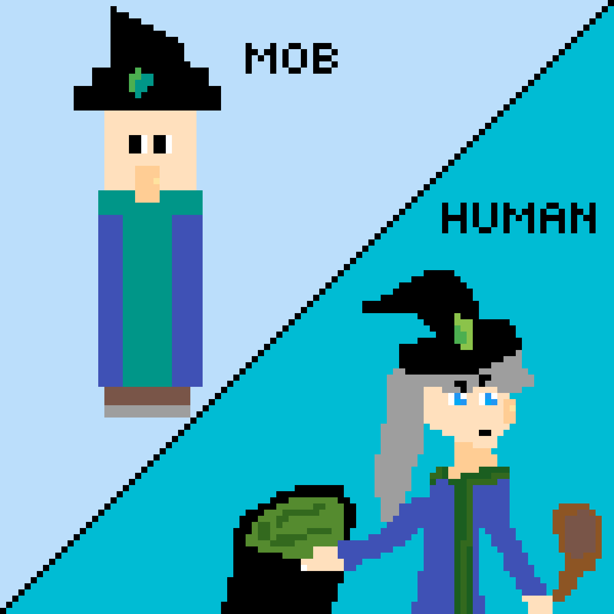 Minecraft Witch as a Person by Anime-Nerd