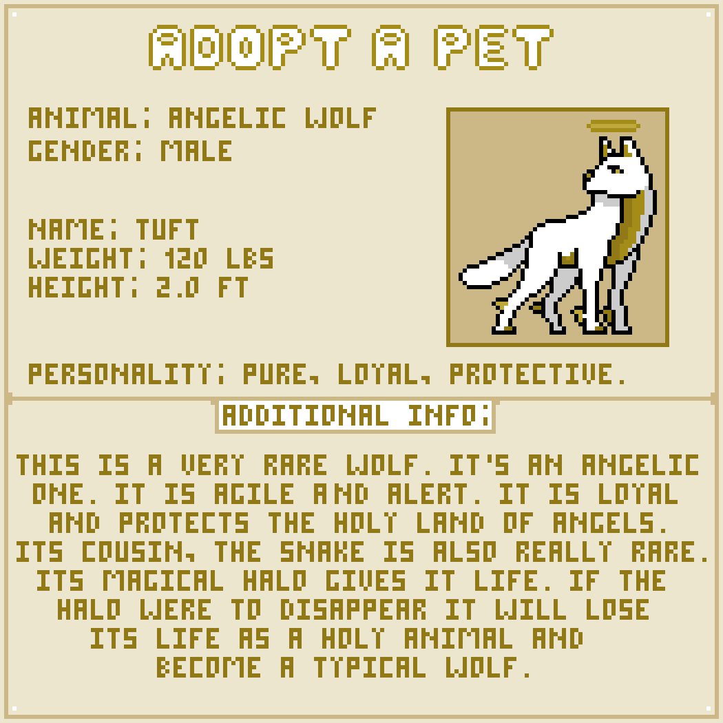 Pixilart - Adopt A Pet #11 by LeoTheLeon