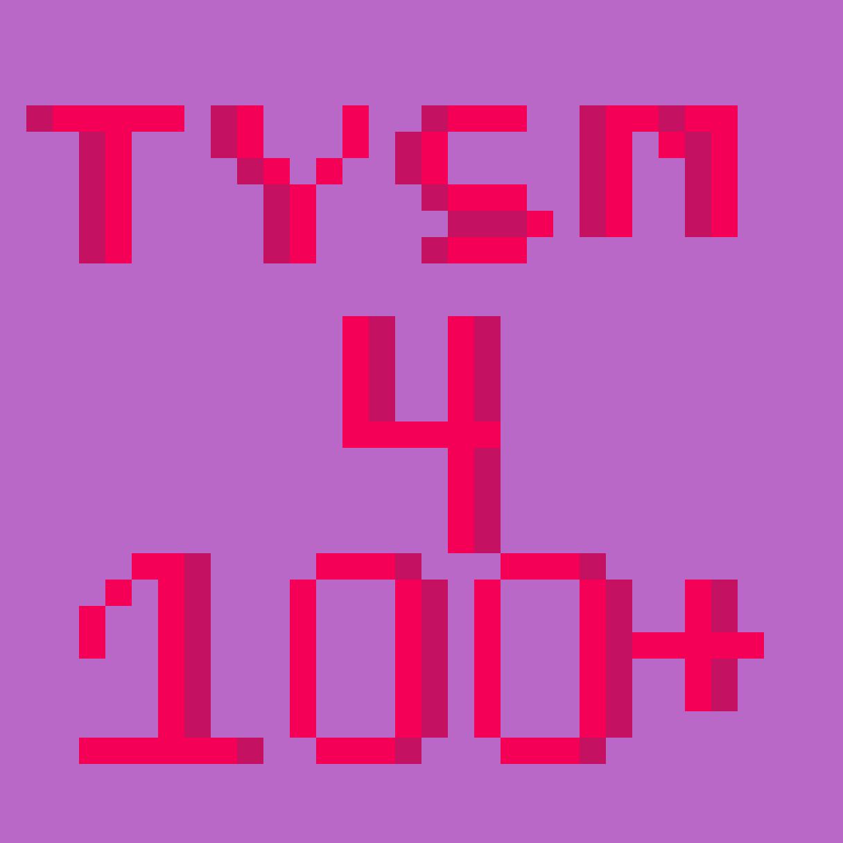 TYSM FOR 100