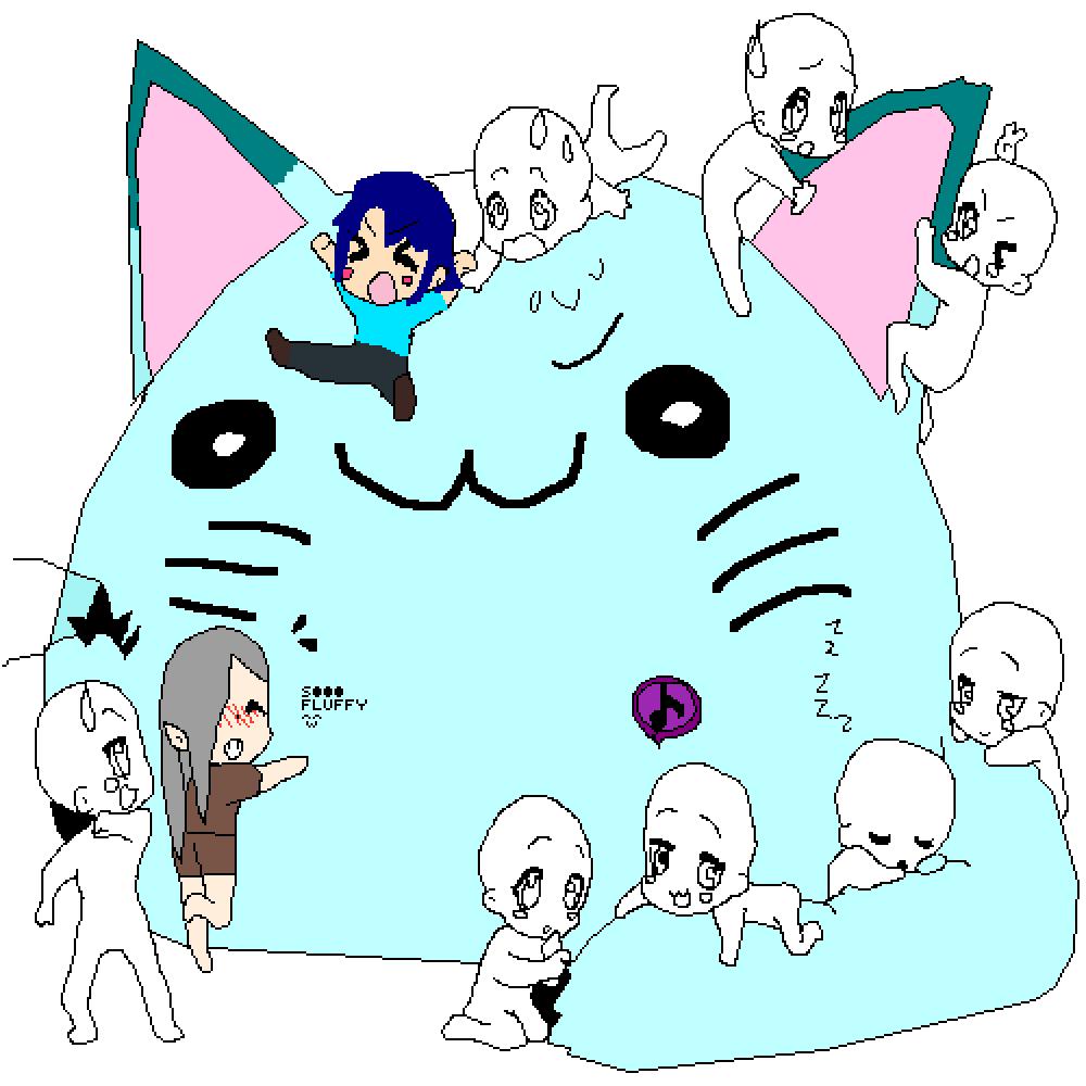 really fluffy kitty by ilovezelda2much