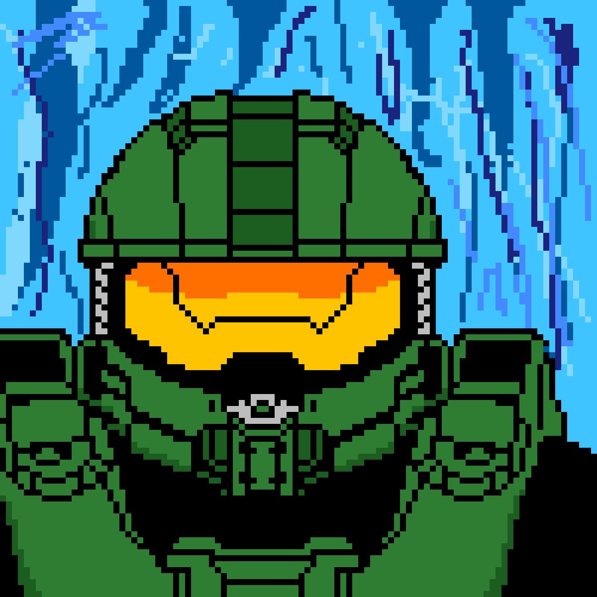 Pixilart - Halo 4 Master Chief last cutscene by Oracle-2929