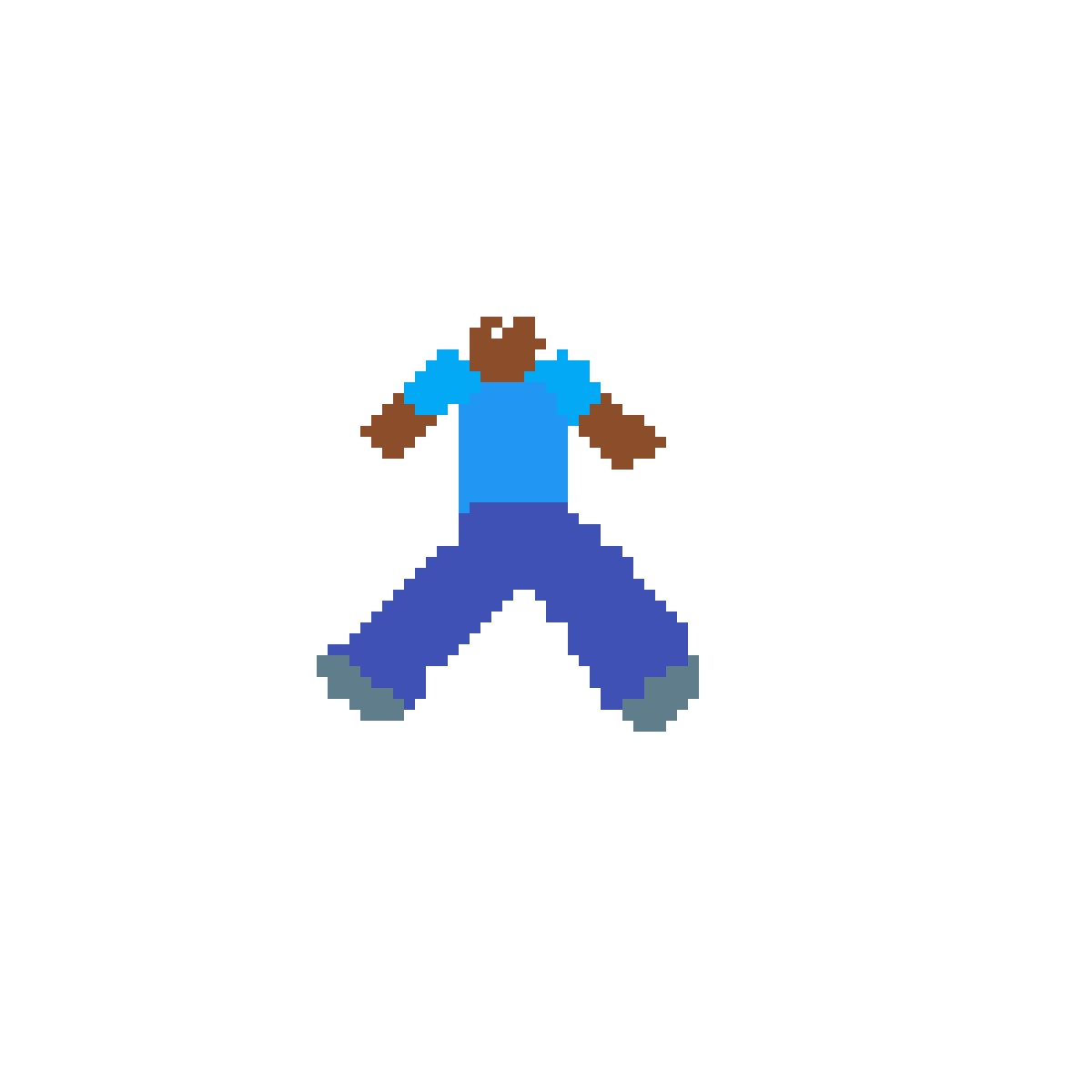 Pixilart Minecraft Steve Walking By Anonymous