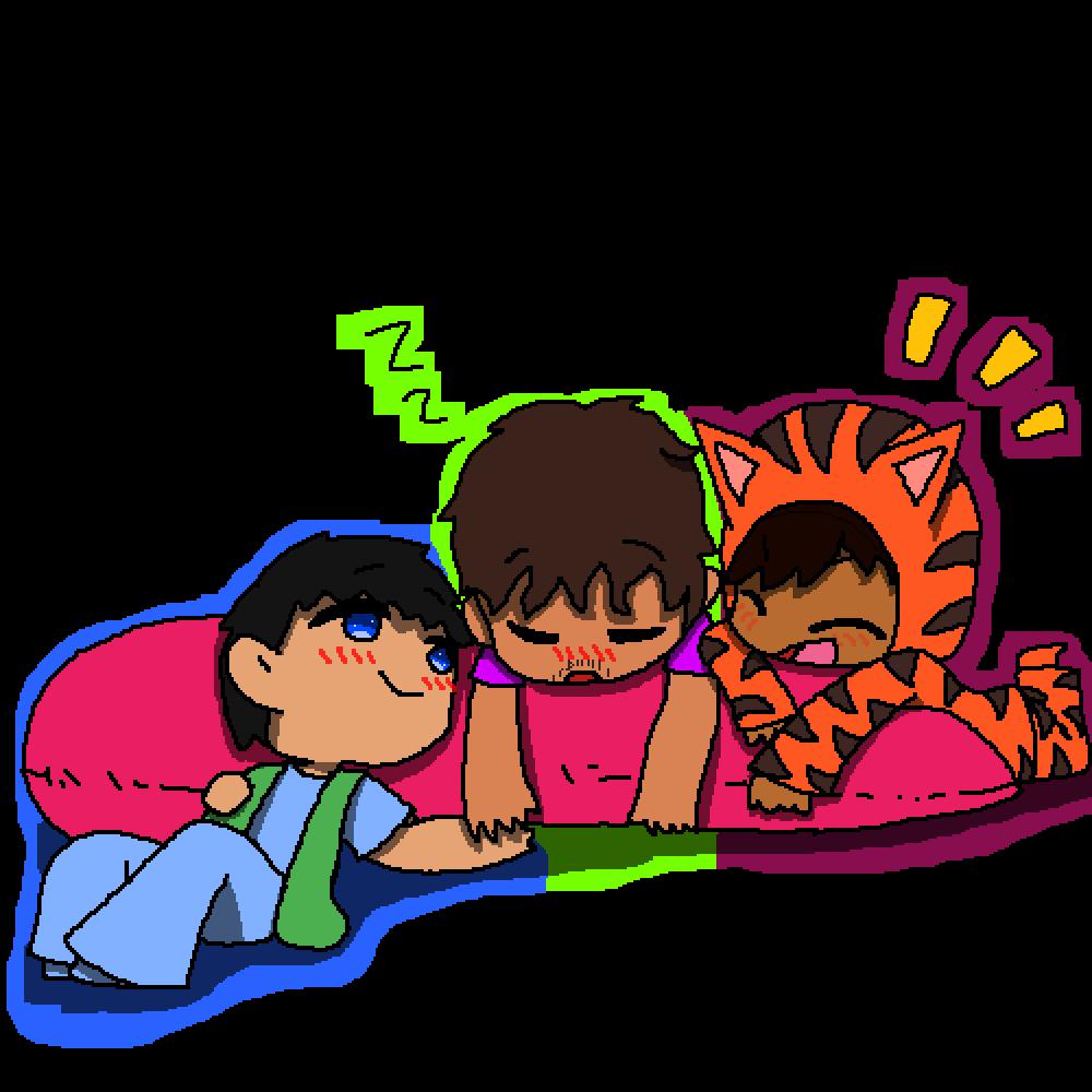 (Umbrella Academy) --- Dave, Klaus, & Ben by GoldenRubyGirl