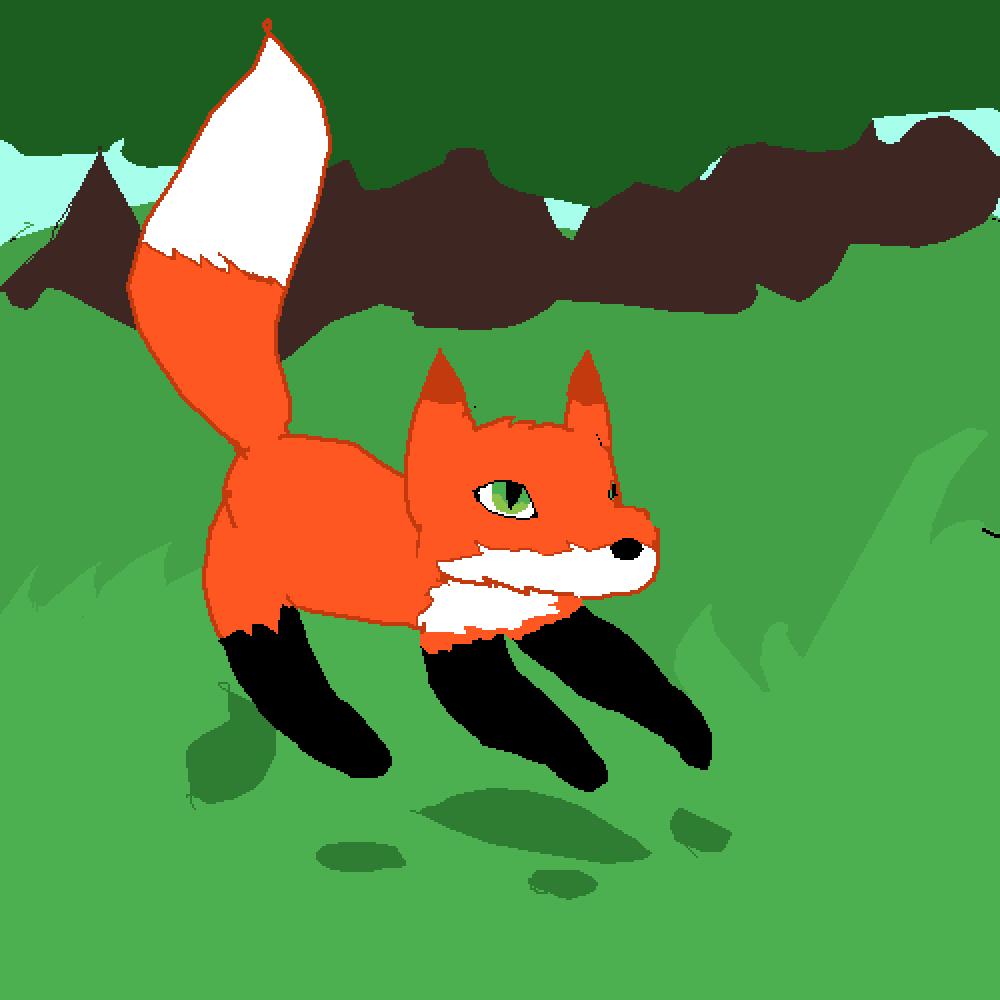 Cute Fox by Flamey10010