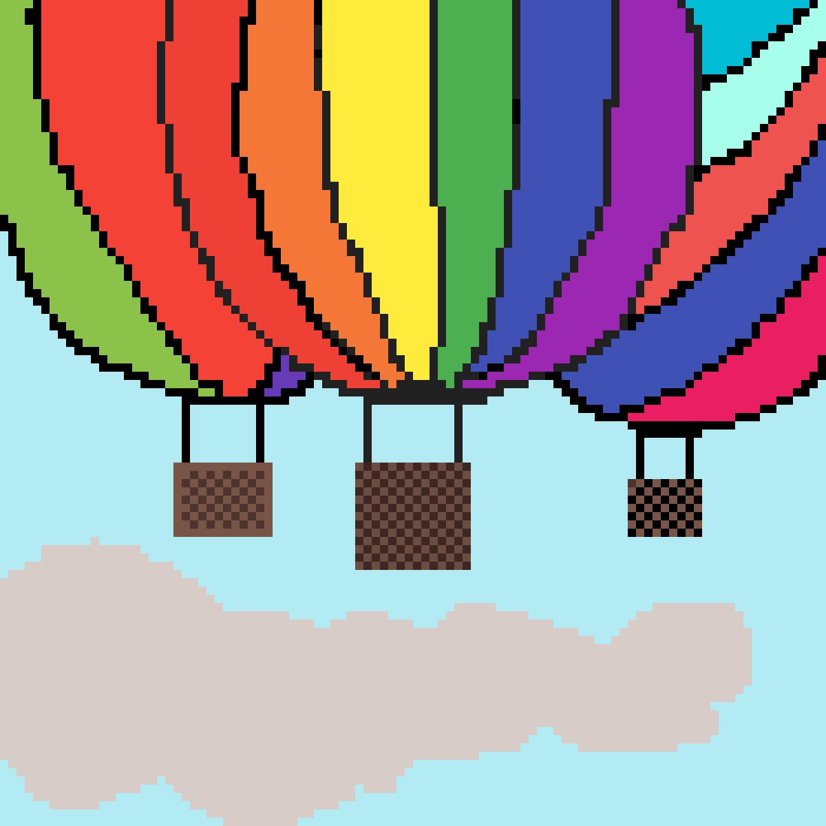 Hot air balloon by Mermorgan