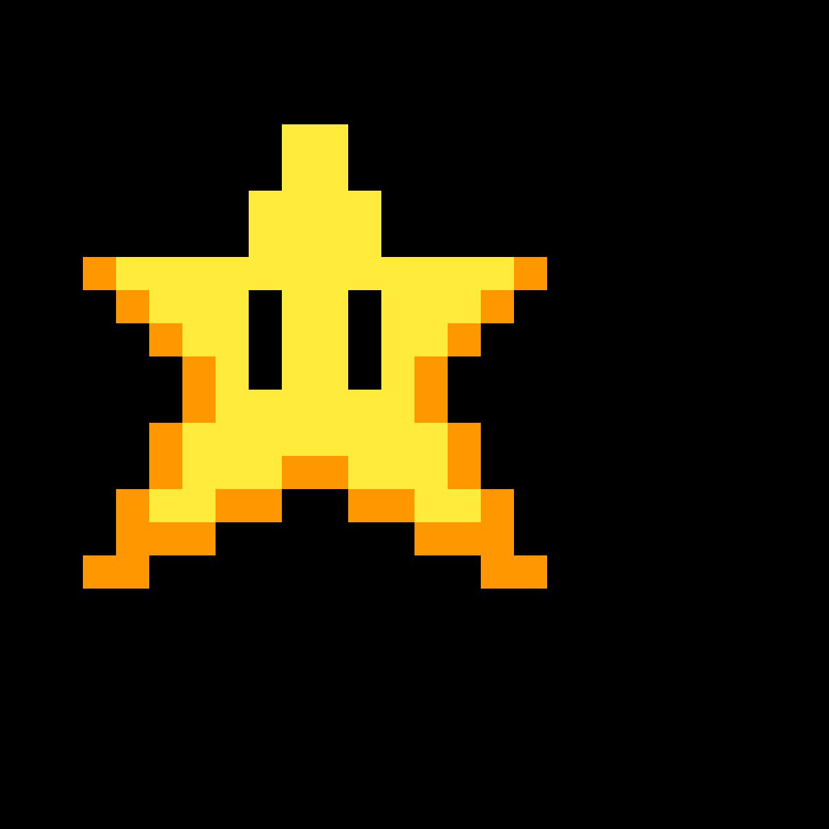 Pixilart - 8-bit mario star by Powerful-Pickle