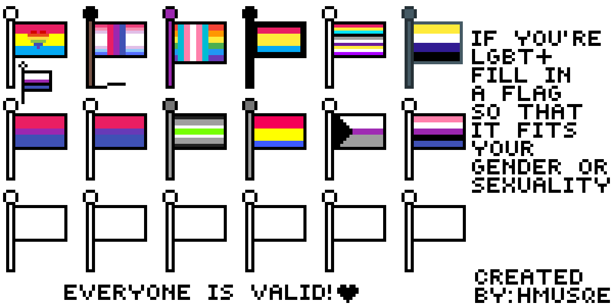 add a pride flag by Serif