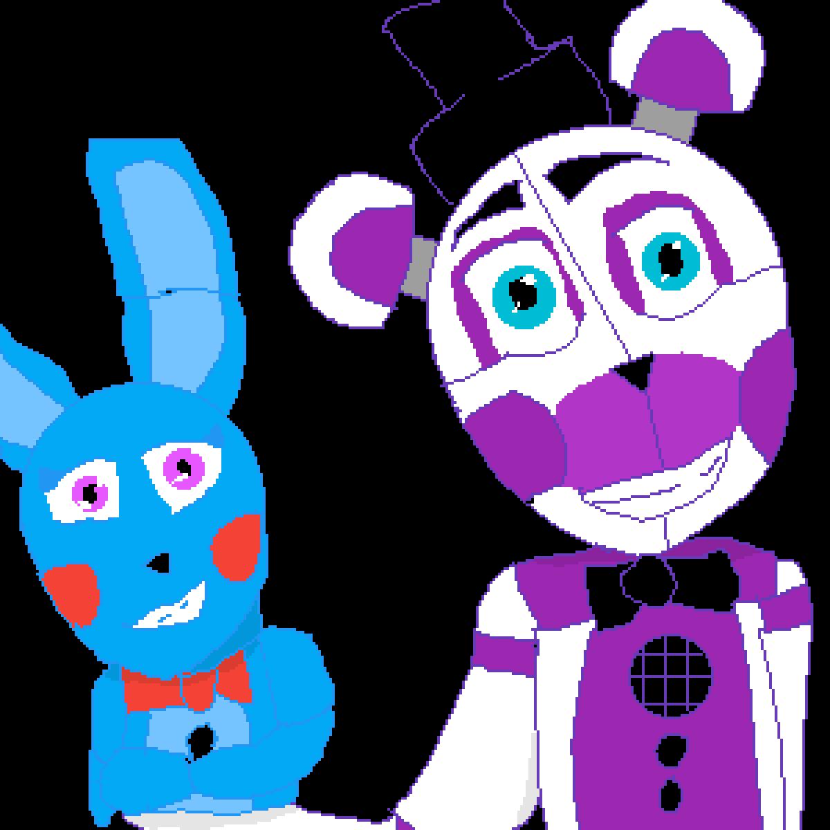 Funtime Freddy & bon-bon by Fox-piper