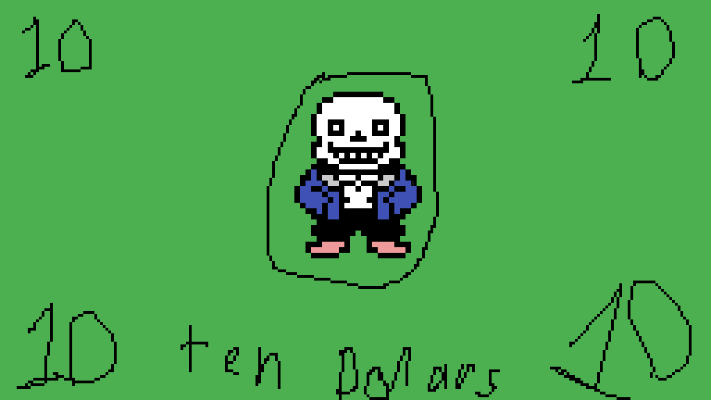 10 sans dollars by Ultra-Doom