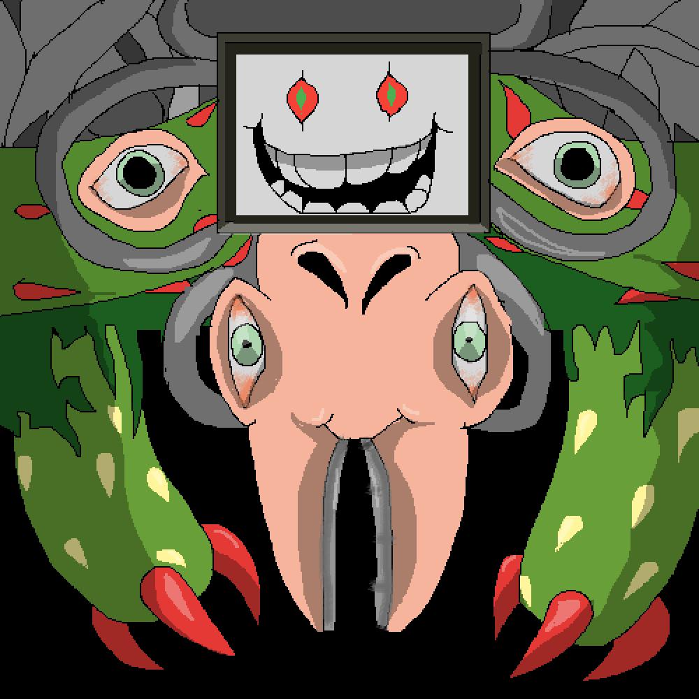 Omega flowey pixel art